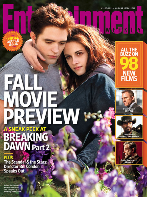 entertainmentweekly:  This Week's Cover: 'Twilight' Exclusive — Director Bill Condon on the scandal. Plus: Fall movie preview!  Awkward.