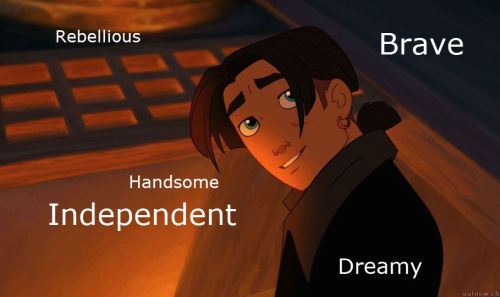 "Jim Hawkins Inner beauty: Jim is a very adventerous, caring young lad. During the beginning of the film he was the ""alienated"" teenager, constantly in trouble and ""like a stranger"" to his mother, Sarah Hawkins. At first Jim is stoic and guarded, almost always using the phrase ""whatever"" in conversations he'd rather not innitiate, huffing out of the corner of his mouth or rolling his eyes. He's rebellious, independent, brave, and very dreamy. Best quality/Goal:  To find the Treasure Planet so his home can be rebuilt and control his own fate. Outer beauty: 15 years old, slender, teenaged, brown hair, blue eyes, brown jacket, tan torso, black-brown pants, hair parted at forehead, rattail/ponytail in back. Quote: You give up a few things, chasing a dream."