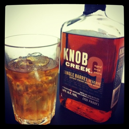 #knobcreek #singlebarrel #bourbon #whiskey the final salute to a finished day (Taken with Instagram)