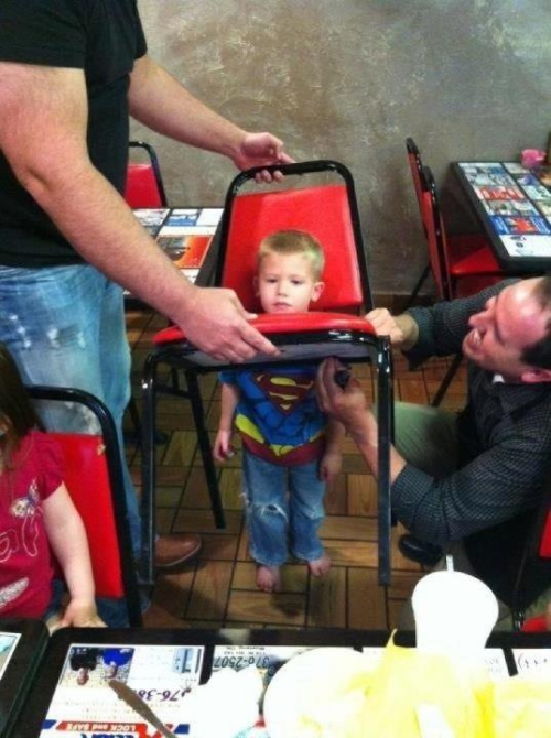 theclearlydope:  Able to get cheap restaurant chairs stuck around his head in a single bound.