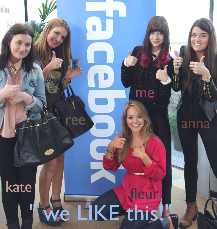 bloggers at facebook hq with ysl. http://thelondonlipgloss.blogspot.com