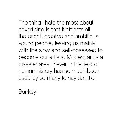 Banksy on Modern Art
