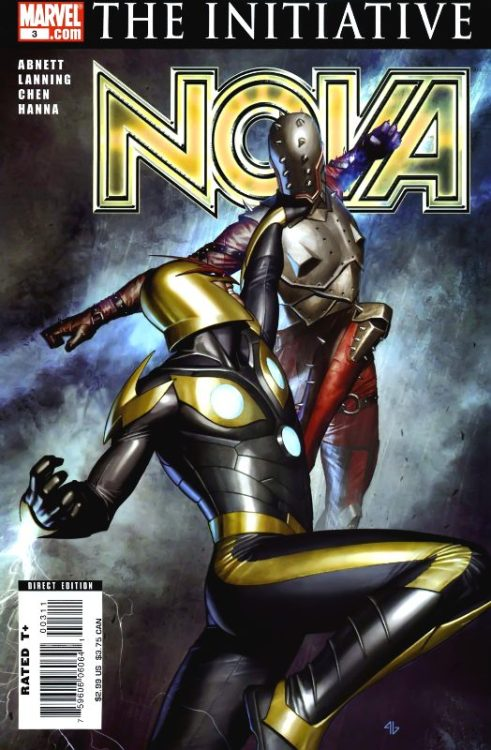 Nova v4 #3, August 2007, written by Dan Abnett and Andy Lanning, penciled by Sean Chen