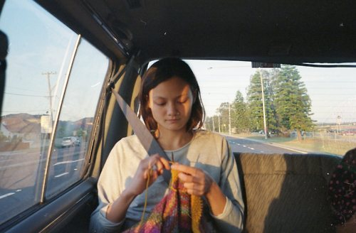 franki-e Back seat knitting!