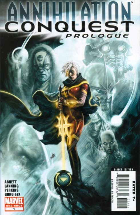 Annihilation: Conquest Prologue #1, August 2007, written by Dan Abnett and Andy Lanning, penciled by Mike Perkins