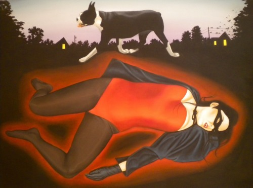 "Vampire Girl, 2010, oil on canvas, 50"" x 36"" *Available"