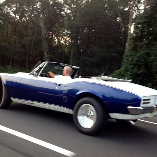 Thus one was behind the blue one. So jealous. #car #highway #musclecar  (Taken with Instagram)