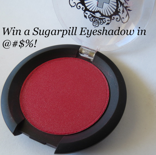 Enter to win a Sugarpill Cosmetics Eyeshadow in the limited edition shade @#$%!  http://portraitofmai.blogspot.com/2012/08/five-days-of-birthday-giveaways-day-one.html