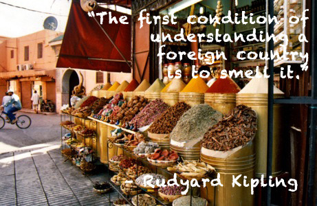 """The first condition of understanding a foreign country is to smell it."" – Rudyard Kipling What smells do you associate with places you've traveled?"