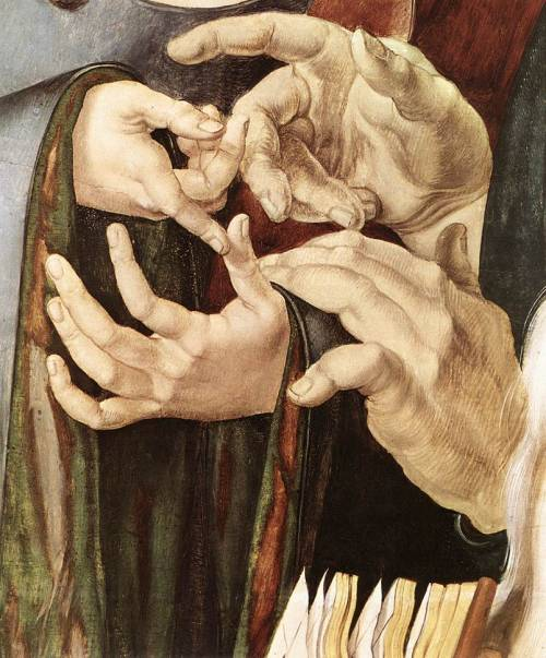 composition-improvisation:  Albrecht Dürer, Christ Among the Doctors (detail), c. 1506