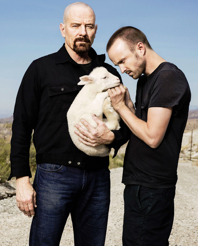 Bryan Cranston & Aaron Paul - Rolling Stone by Peter Yang, August 2012