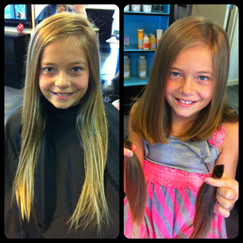 Precious Madison came in today for a new back-to-school haircut and decided to donate her hair to Pantene Beautiful Lengths! The cut looks great on her and she can still put it back for ballet. Just love seeing young ones come in excited to donate their hair, warms my heart!  Click here for more information on Pantene Beautiful Lengths.
