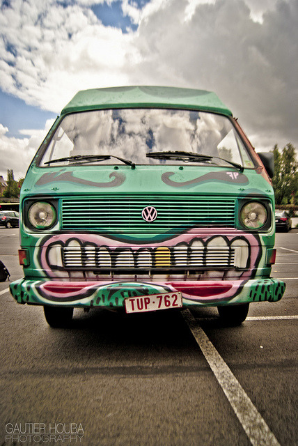 themonstersunderyourbed:  Best looking van in town! by Gautier Houba on Flickr.