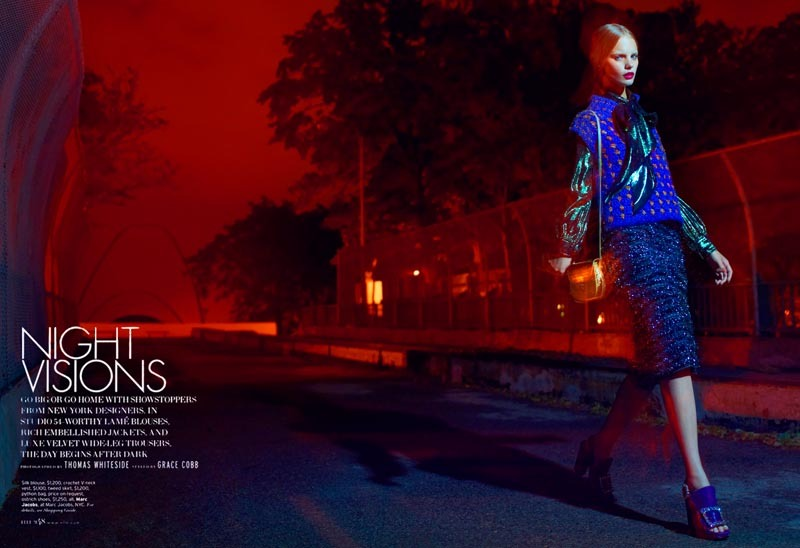 Elle US August 2012 Model: Marloes Horst Photographer: Thomas Whiteside