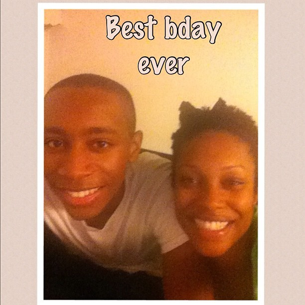 @mistrgq surprised me! Was at my house w a bottle. We ate n watched a movie n some tv. Best BDAY ever. Love my little brother.  (Taken with Instagram)