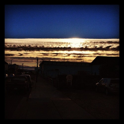 Tire tracks across the sky. (Taken with Instagram)