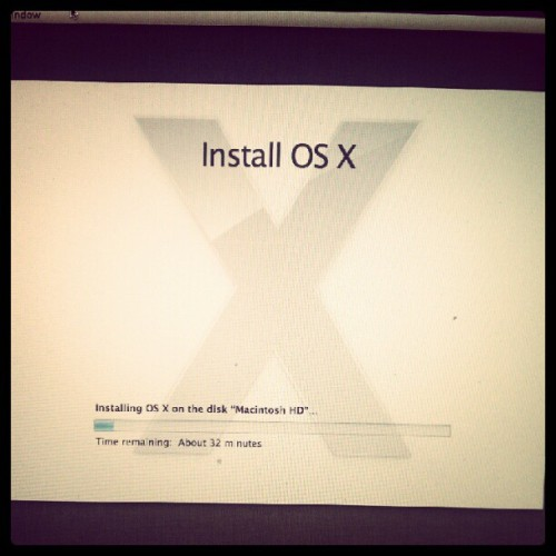 Let's hope I'm a happy camper in 32 min. #apple #mackbookpro #mountainlion #osx (Taken with Instagram)