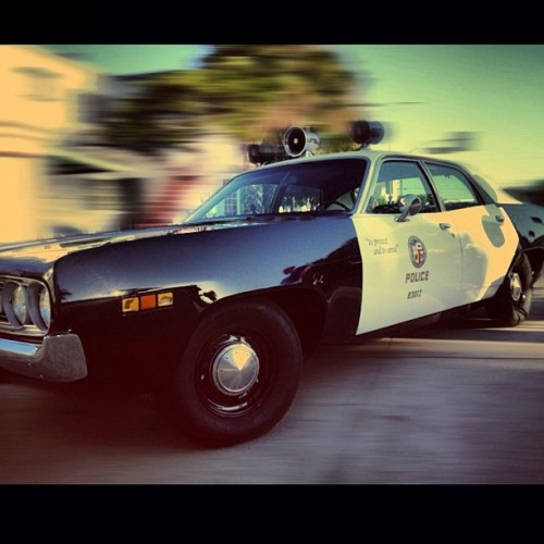 This is what cop cars looked like when I was a kid. (Taken with Instagram at LAPD - Hollywood Station)