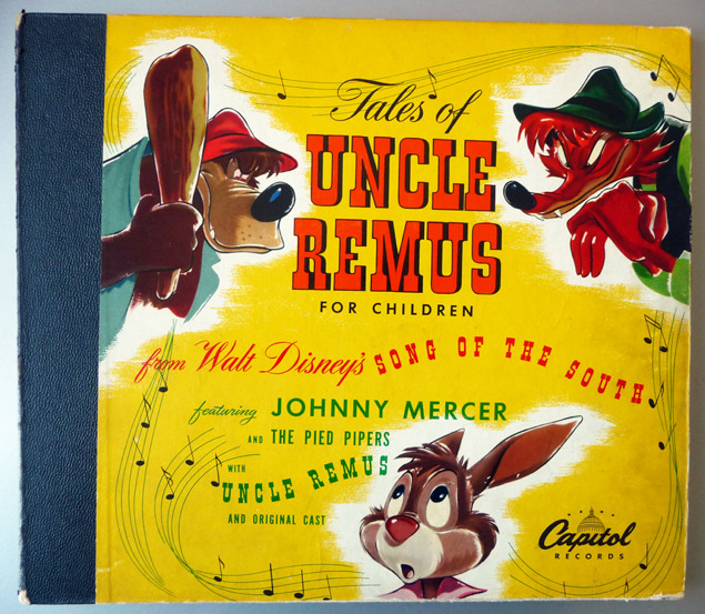 """Tales of Uncle Remus for Children"" 78RPM Album - Capitol Records, US (1947)."