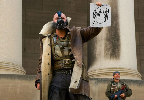 twentypercentcooler:  favoritesticle:  Bane wants to know if anyone has seen a girl with hair like this…  WHEN THE BREAD HAS MADE YOU FAT, THEN YOU HAVE MY PERMISSION TO DIE.