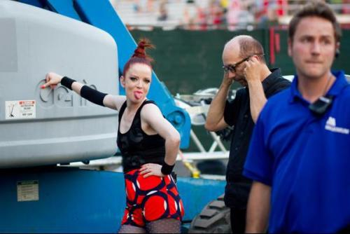 billy-manson:  Shirley Manson. Garbage backstage at Osheaga, 4 August 2012.