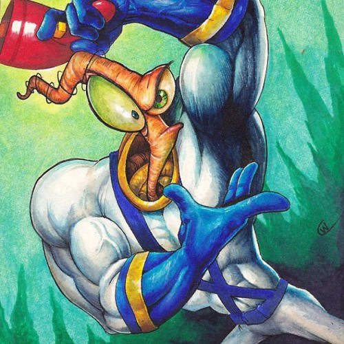 Had to post this classic #earthwormjim #90s  (Taken with Instagram)