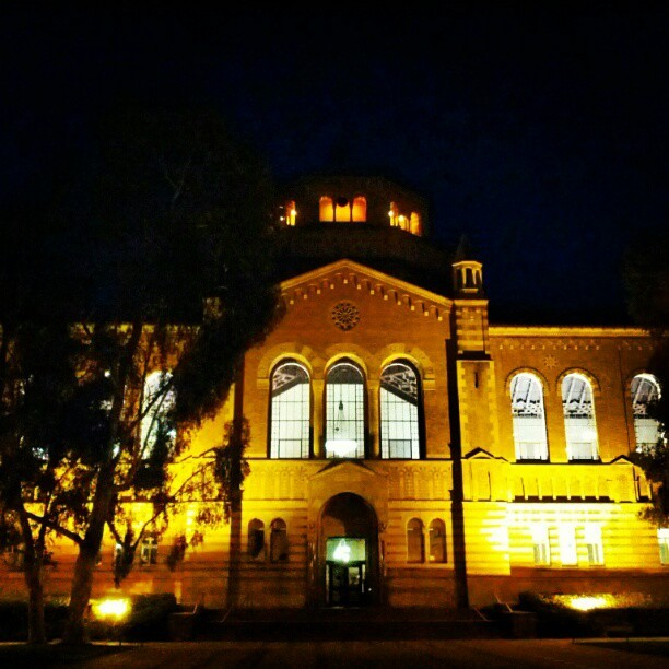 I had forgotten how majestic #UCLA looks at #night. #Powell #Library (Taken with Instagram)