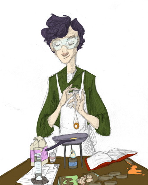 hobbitts:  accio-wholock asked you:   draw sherlock trying to cook :D  Well it kind of turned into Sherlock successfully cooking and taking the necessary safety precautions but yeah B)   The Adorable Train has pulled into the station.