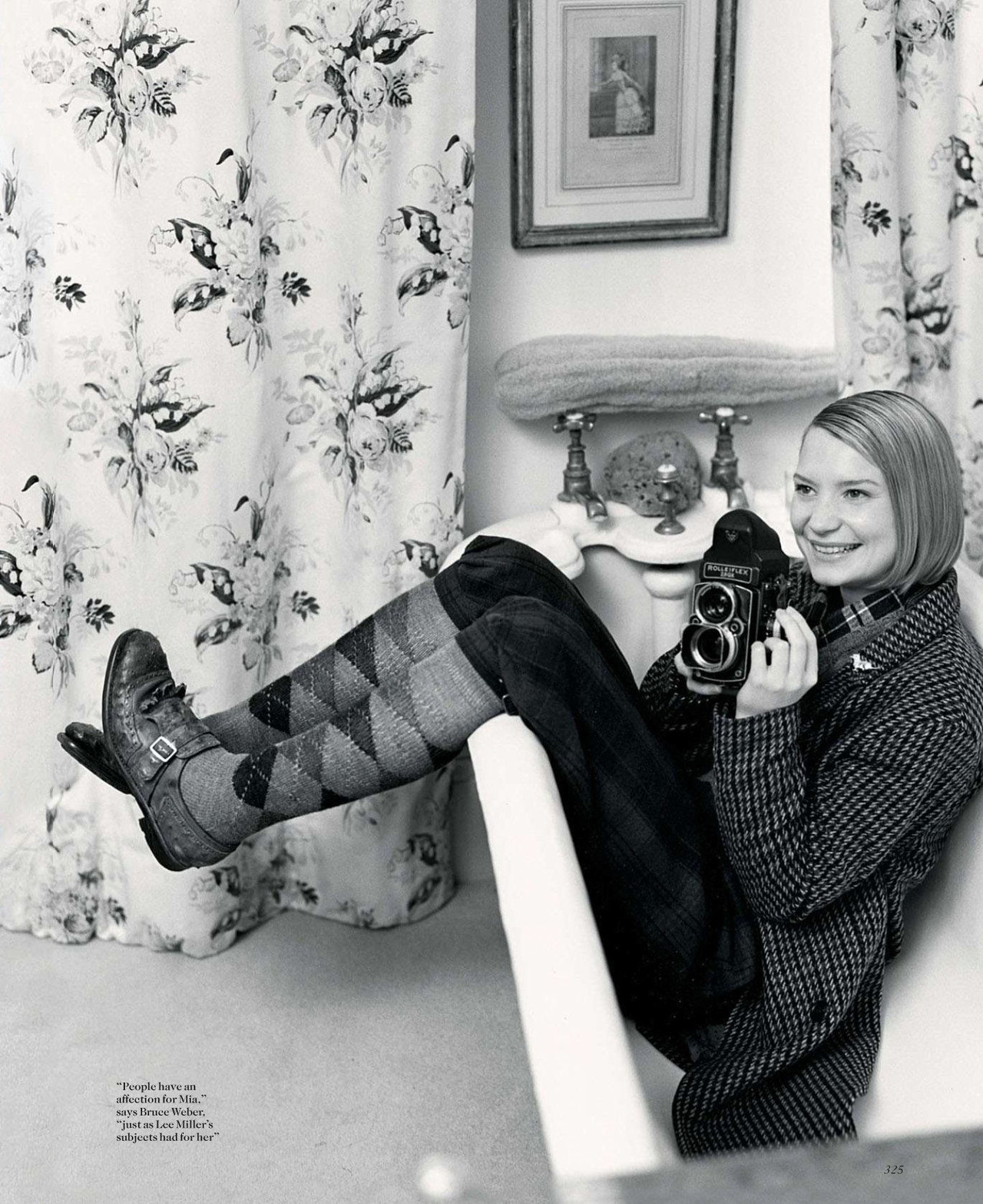 Mia Wasikowska - Vogue UK by Bruce Weber, September 2012