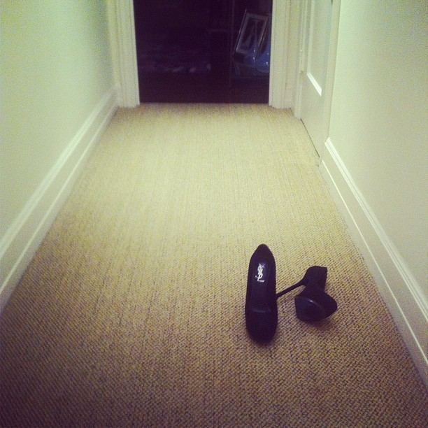 The ending to a busy day. #home #ysl #shoes #igers #entrepreneur (Taken with Instagram)