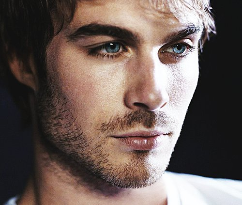 Those eyes that mustache the scruff Omg.