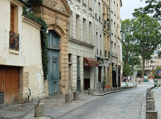 | ♕ |  Gently aged backstreet - Paris | by © Everita  via ysvoice : francefrance