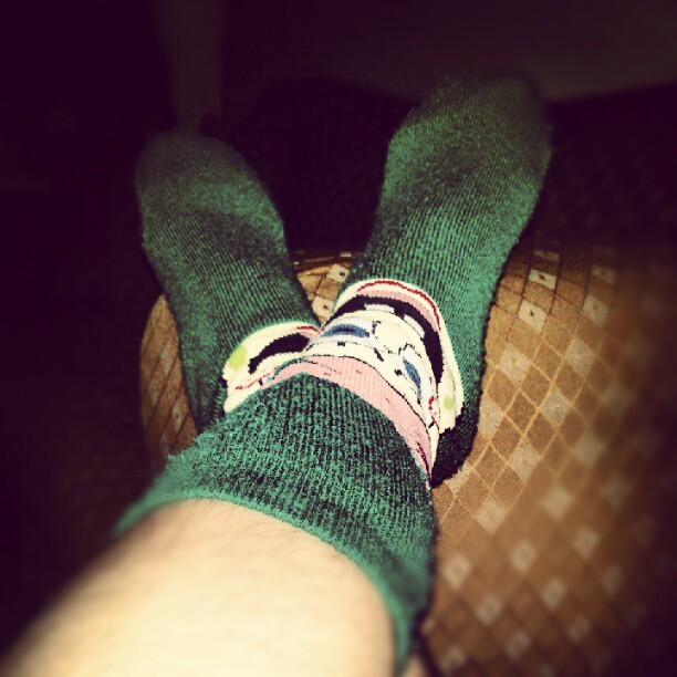 comfy socks, ROCKS :) (Taken with Instagram)