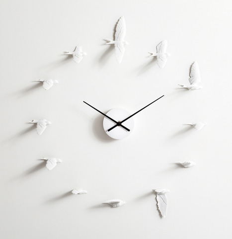 Swallow Clock by Haoshi Design