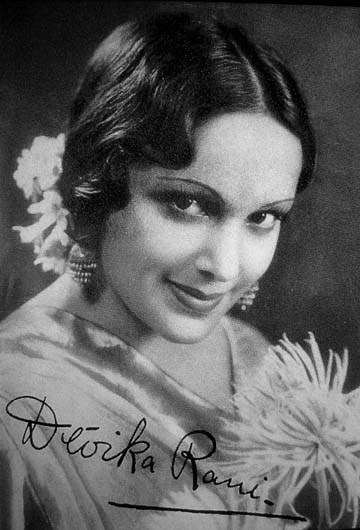 Devika Rani, early Indian film actress, 1930s (source: www.india-seminar.com)