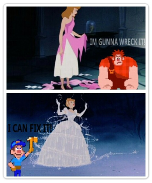Cinderella discovers she has a Felix Godfather on her side lol!