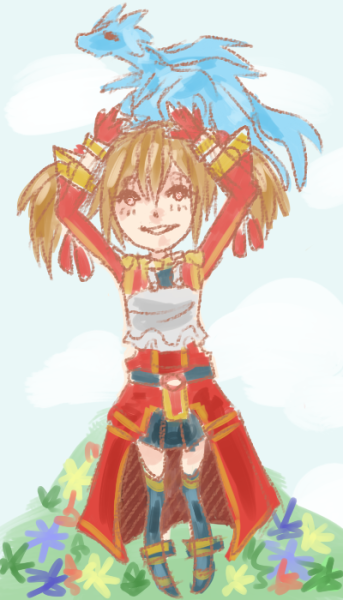 quick middle-of-night doodle of silica from soa because she was so cute and safdgdhfhg Q v Q