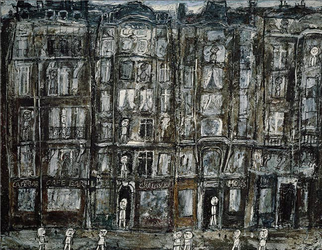 "Jean Dubuffet     Apartment Houses, Paris      1946  ""Art doesn't go to sleep in the bed made for it. It would sooner run away than say its own name: what it likes is to be incognito. Its best moments are when it forgets what its own name is."" Jean Dubuffet"