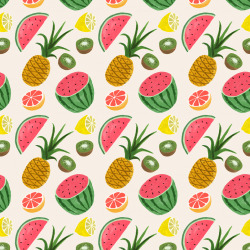 patternandco:  Poolga. Ruby Taylor - Tropical Fruits