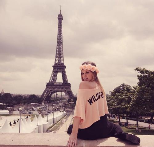 A Wildfox Couture girl in Paris!