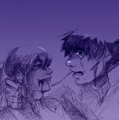 "nooopantsss:  Day 7 Borra Week: Moonlight Korra, NO! You can't leave me yet! S-sorry, Bo… All this Borra fanart is giving me… OTP…f-feels… BLEH  why this is called ""moonlight"" I don't even know"