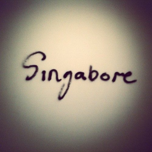 Singabore. The word says it all.  (Taken with Instagram)