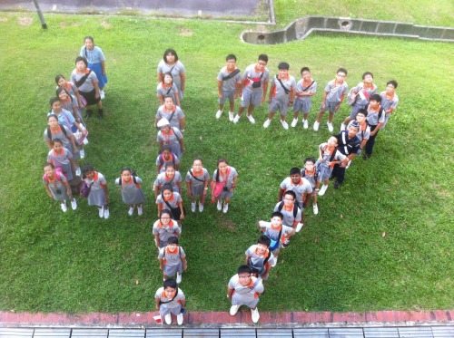 1C celebrates the 47th National Day with a clever photo! Happy birthday Singapore.