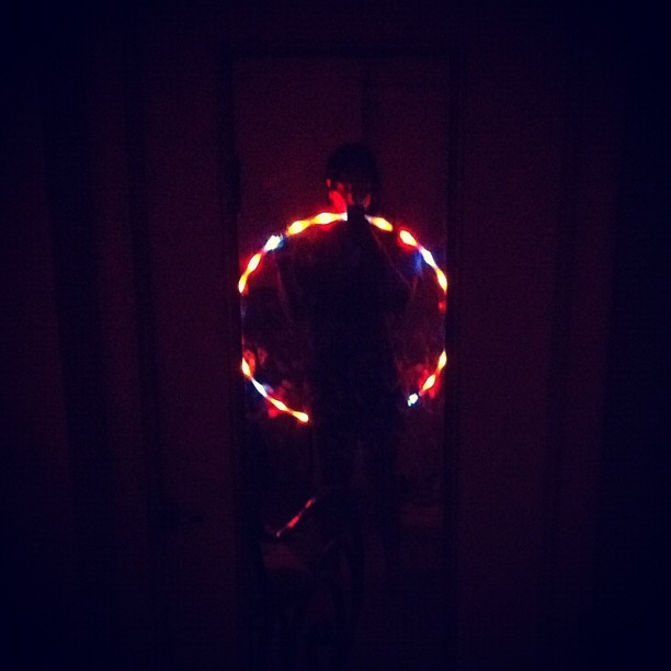 Bohemia LED Hula Hoop massagemythirdeye:  my child ^.^ (Taken with Instagram)