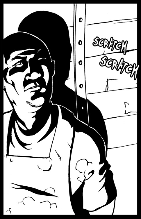 Panel excerpt from Dark Waves, something bad about to happen