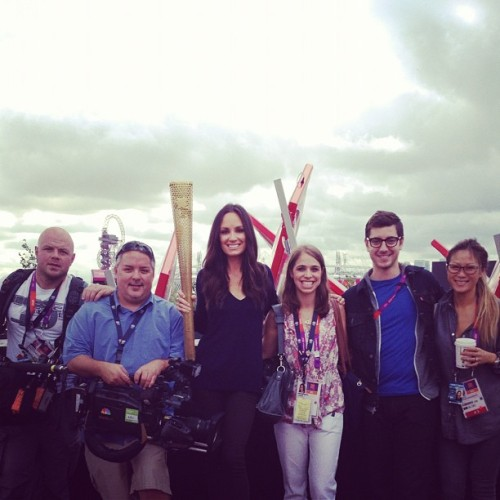 Team @Enews with the torch! #london2012 @willmarfuggi  @catalinasu  (Taken with Instagram)