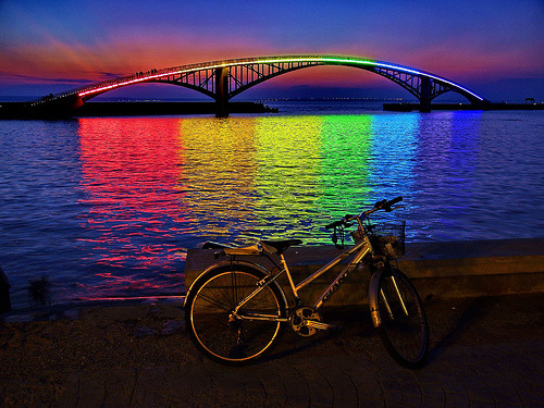 martinekenblog:  Located in Penghu, Taiwan, the Rainbow Bridge has a whimsical quality about it that will delight both children and the young-at-heart alike.