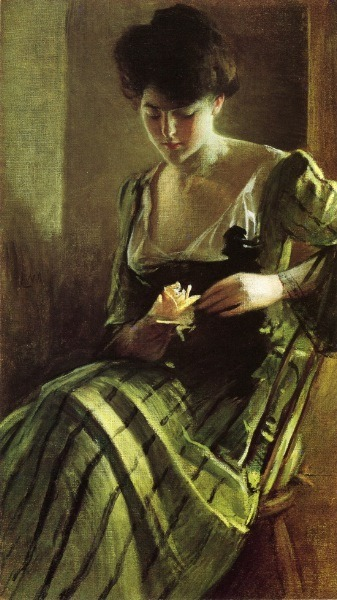 chaosinadress:  A Rose by John White Alexander American 1856 - 1915