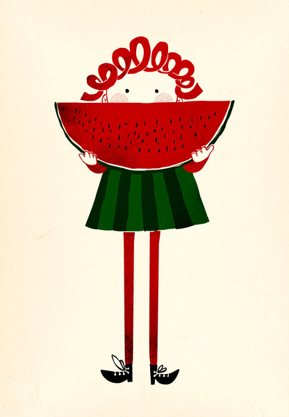 littlechien:  littlechien via illustratedladies richters:  Melone girl by Robert Farkas