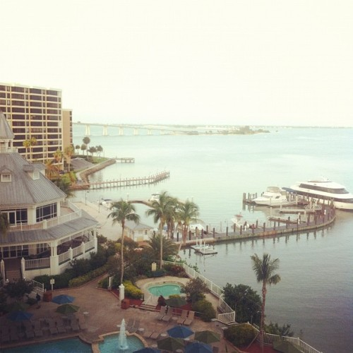 The view from my hotel room. Not bad for a work trip.  (Taken with Instagram at Sanibel Harbour Marriot Resort & Spa)
